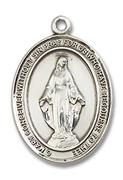 Miraculous Medal - Sterling Silver - Small